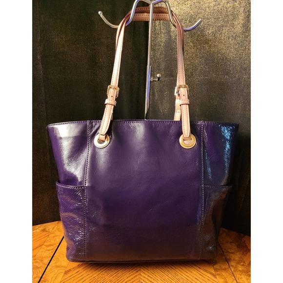 Michael Kors Purple Patent Leather Tote
